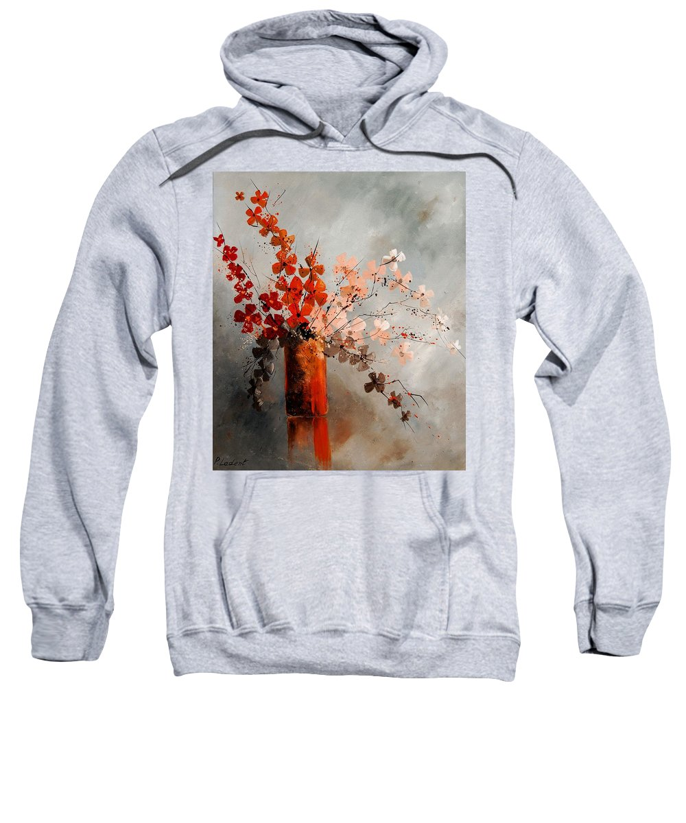 Flowers Sweatshirt featuring the painting Bunch 670908 by Pol Ledent