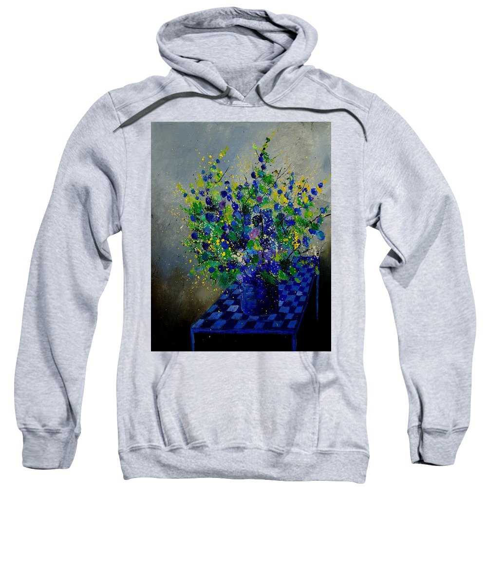 Flowers Sweatshirt featuring the painting Bunch 9020 by Pol Ledent