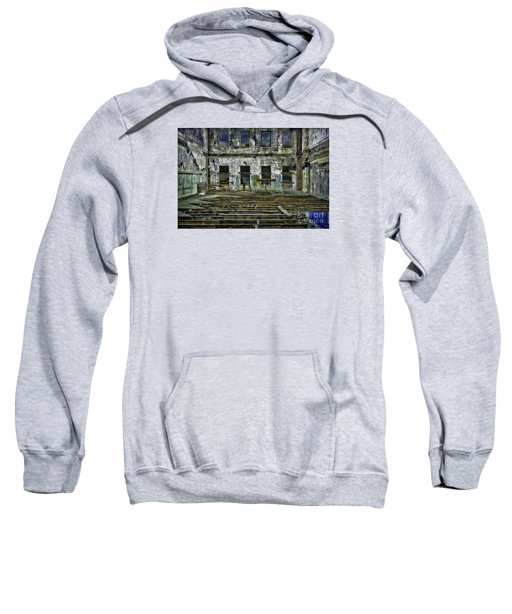 Burned Sweatshirt featuring the photograph Burned And Gutted In Detail by Walt Foegelle