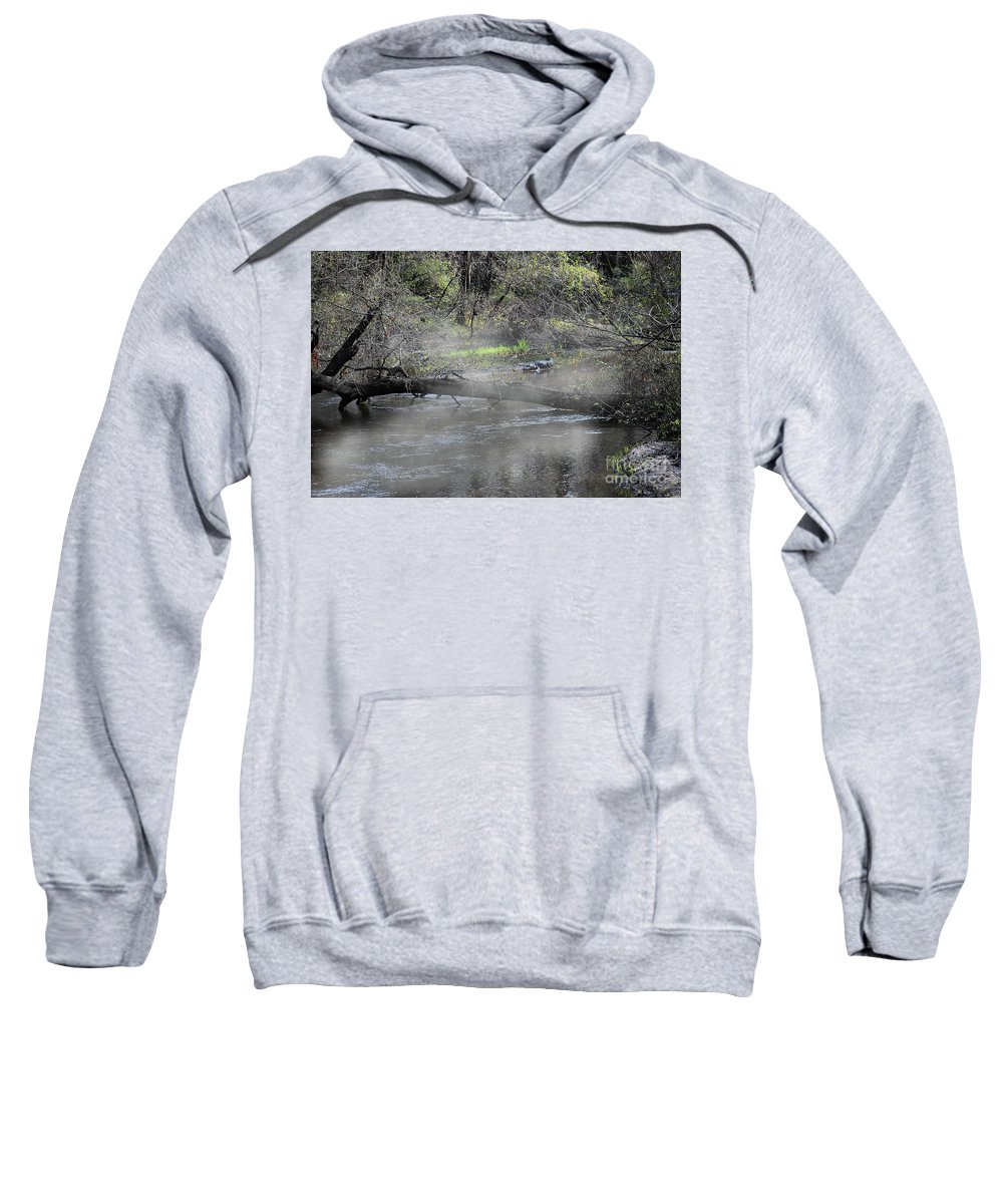 Nature Sweatshirt featuring the photograph Burning Off by Skip Willits