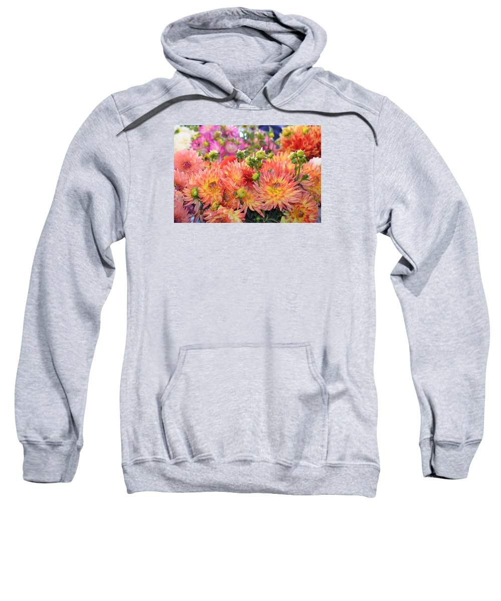 Flowers Sweatshirt featuring the photograph Burst Of Color by Teresa Sells