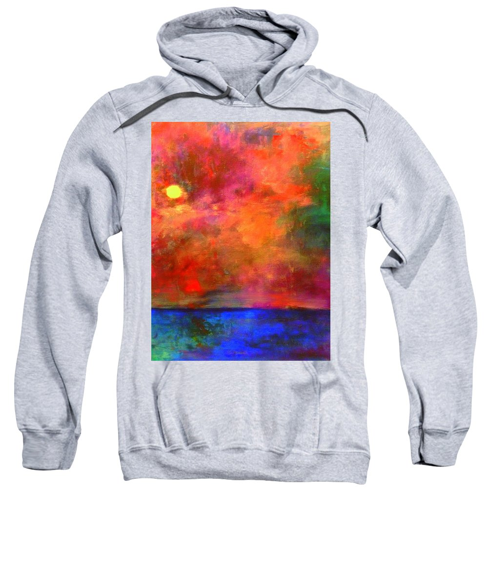 Seascape Sweatshirt featuring the painting Bursting With Joy by Marla McPherson