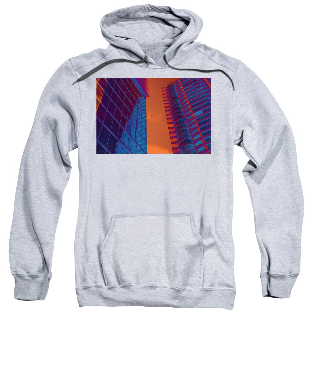 Multi Colored Sweatshirt featuring the photograph Business Travel, Architectural Abstract by Craig McCausland