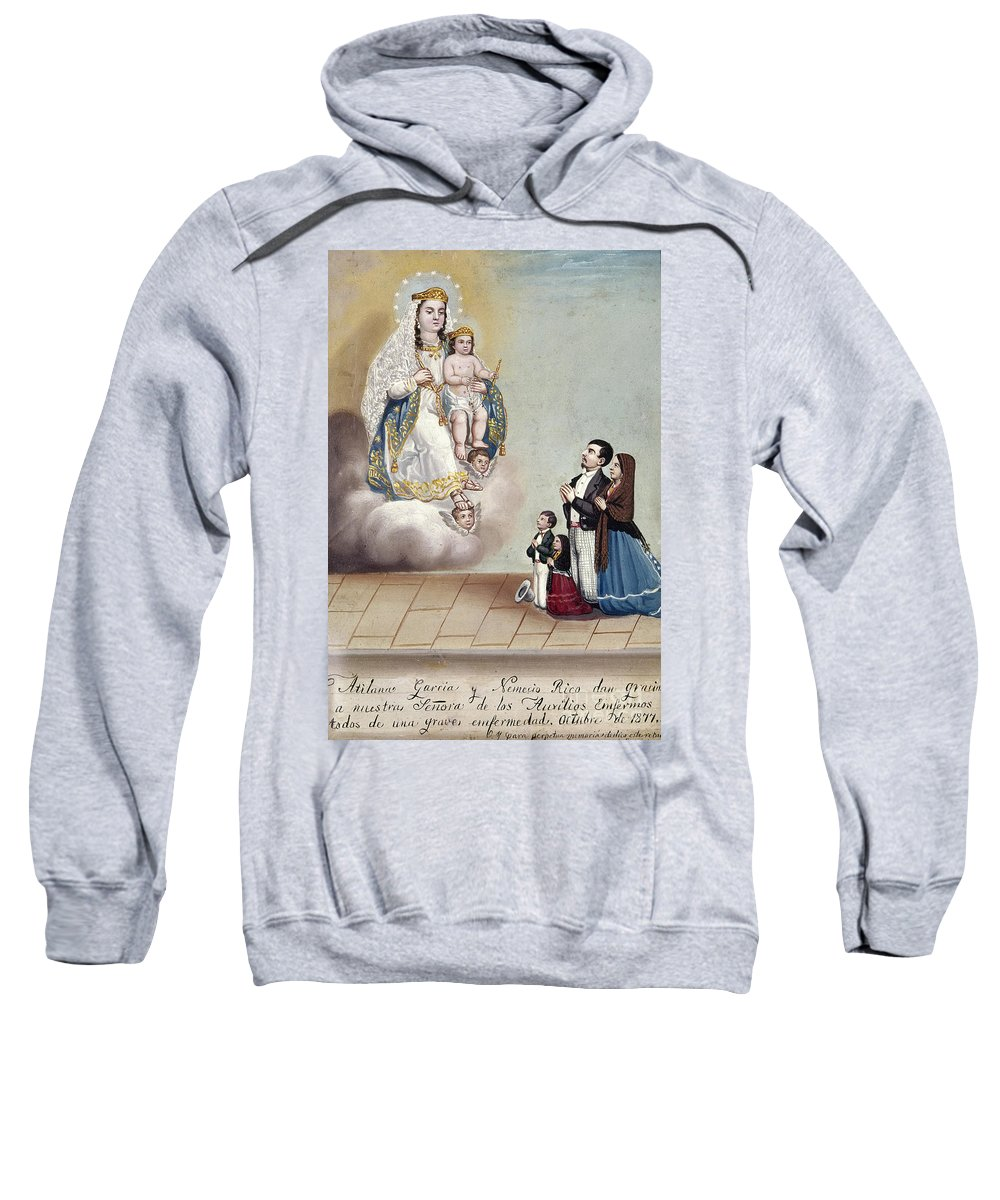 1879 Sweatshirt featuring the photograph Bustos: Worship, 1879 by Granger