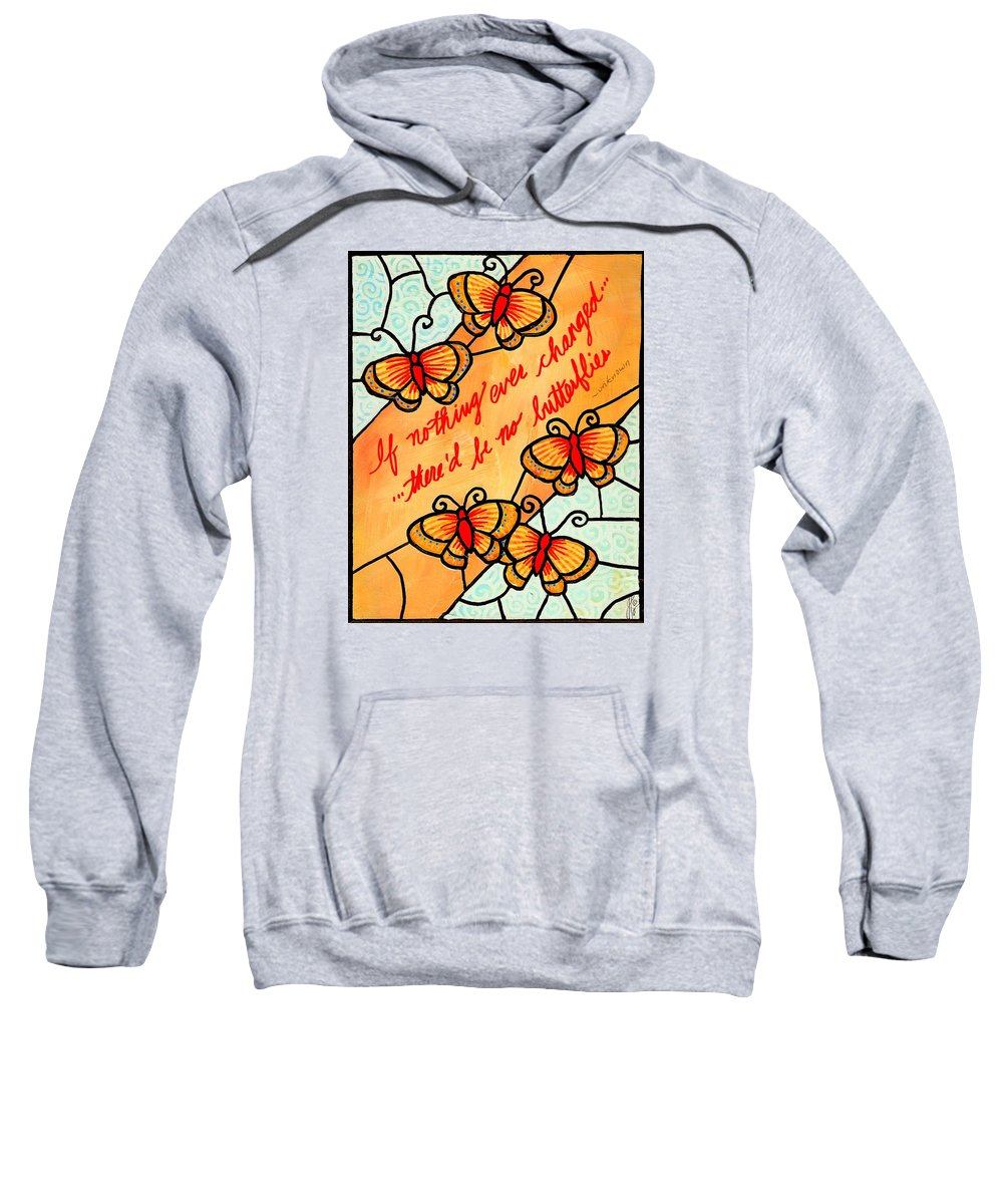 Butterfly Sweatshirt featuring the painting Buterflywhispers2 by Jim Harris