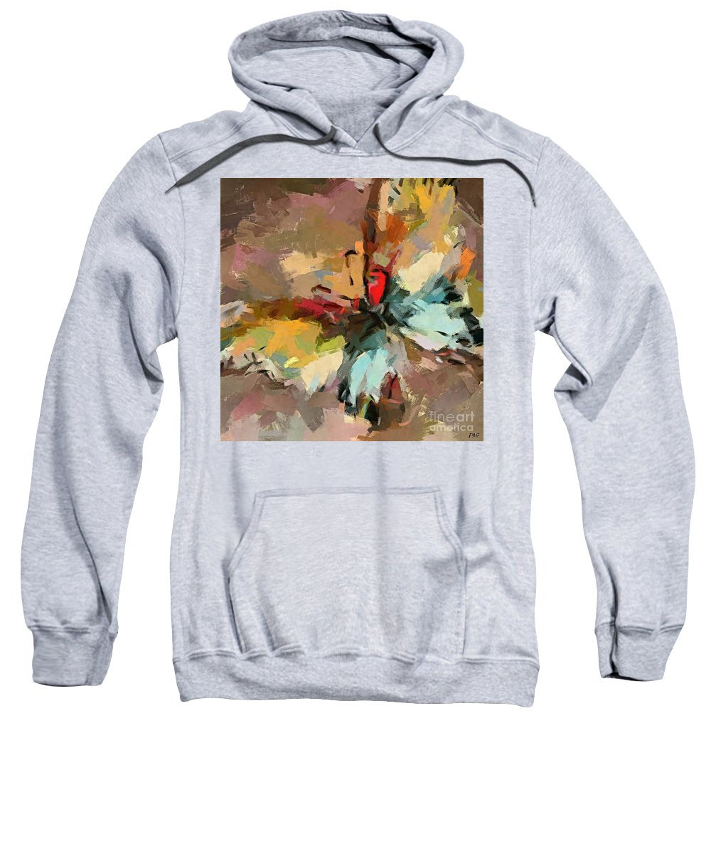 Animal Sweatshirt featuring the painting Butterfly by Dragica Micki Fortuna