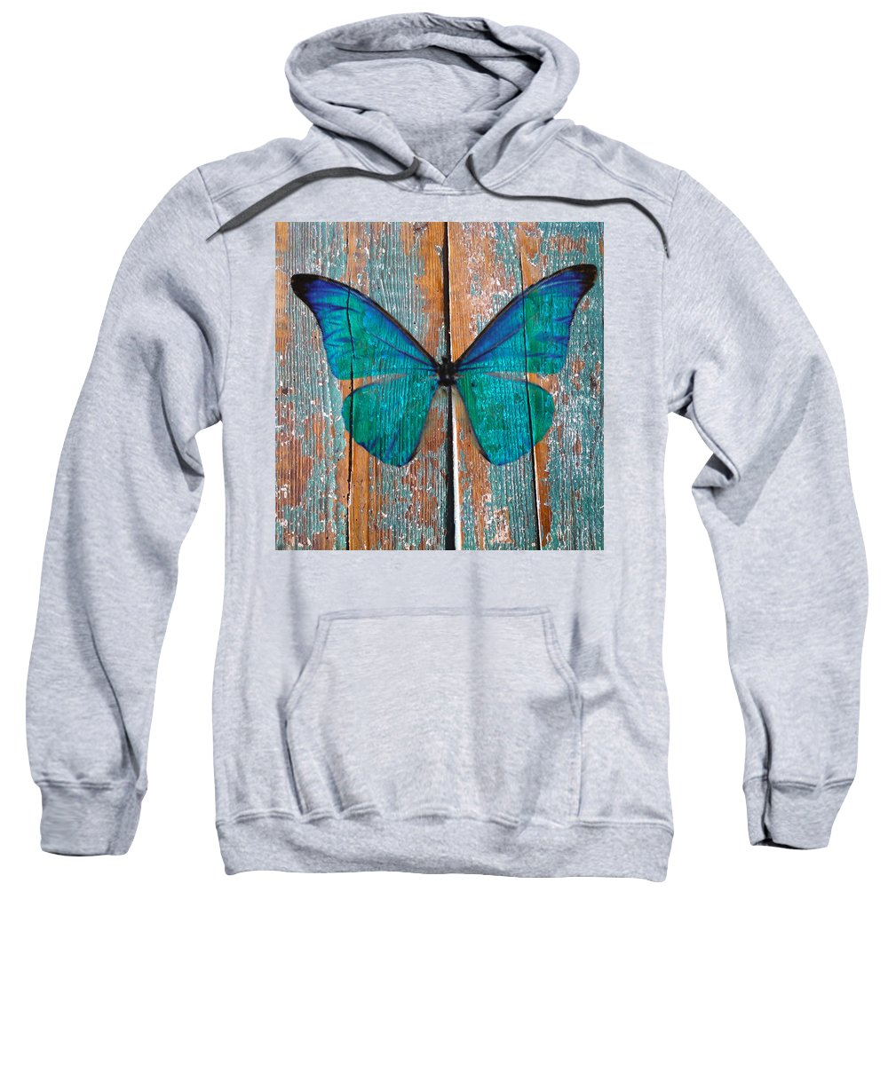 Butterfly Sweatshirt featuring the photograph Butterfly Exhibition 1 by Anthony Robinson