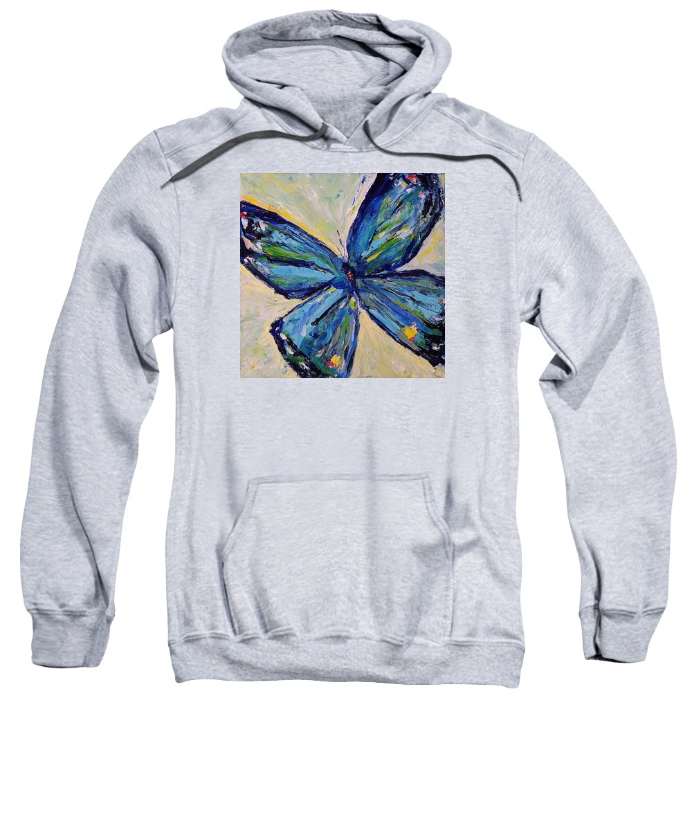 Impressionism Sweatshirt featuring the painting Butterfly I by Jo Gerrior