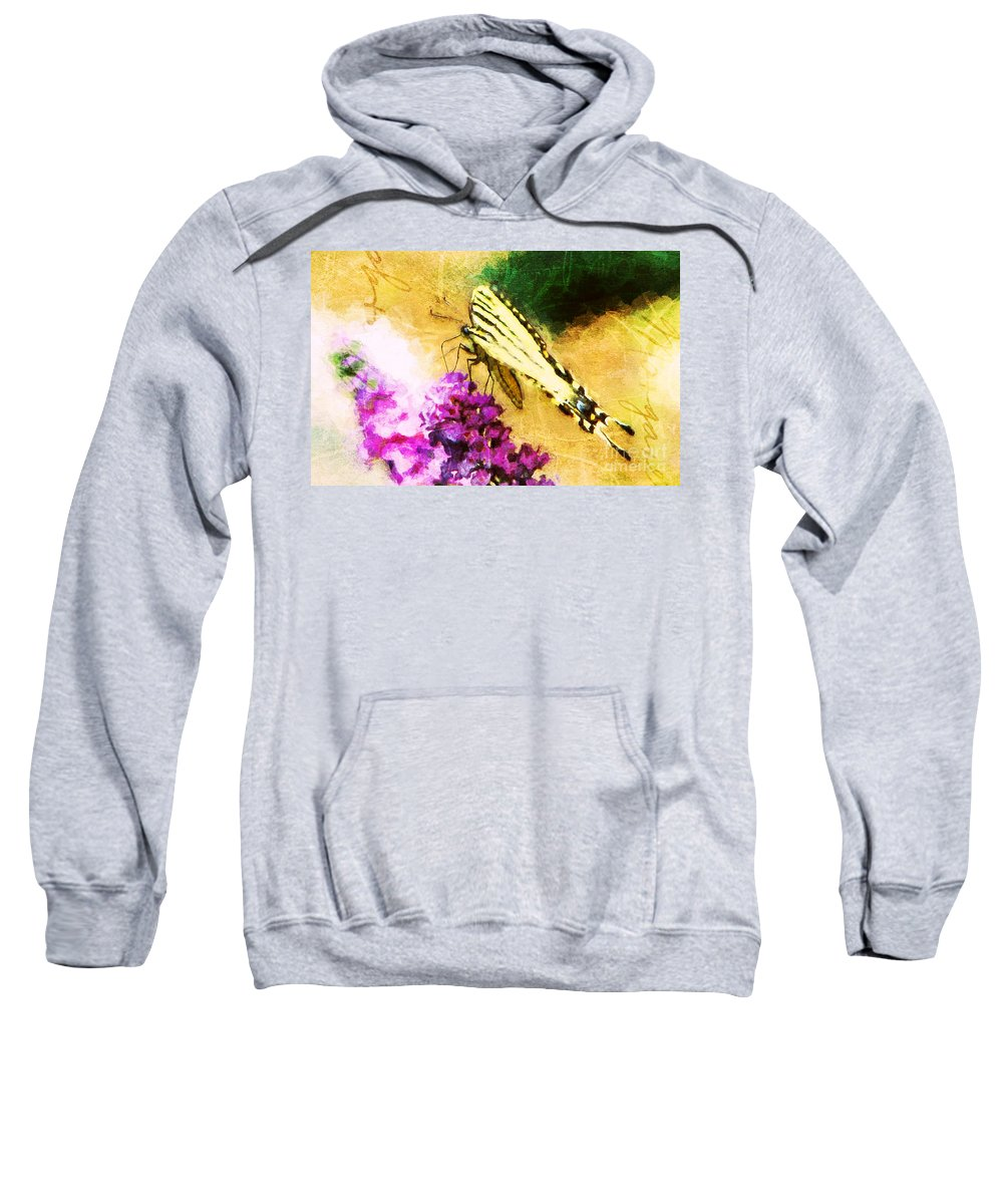 Butterfly Sweatshirt featuring the photograph Butterfly Journey by Tina LeCour