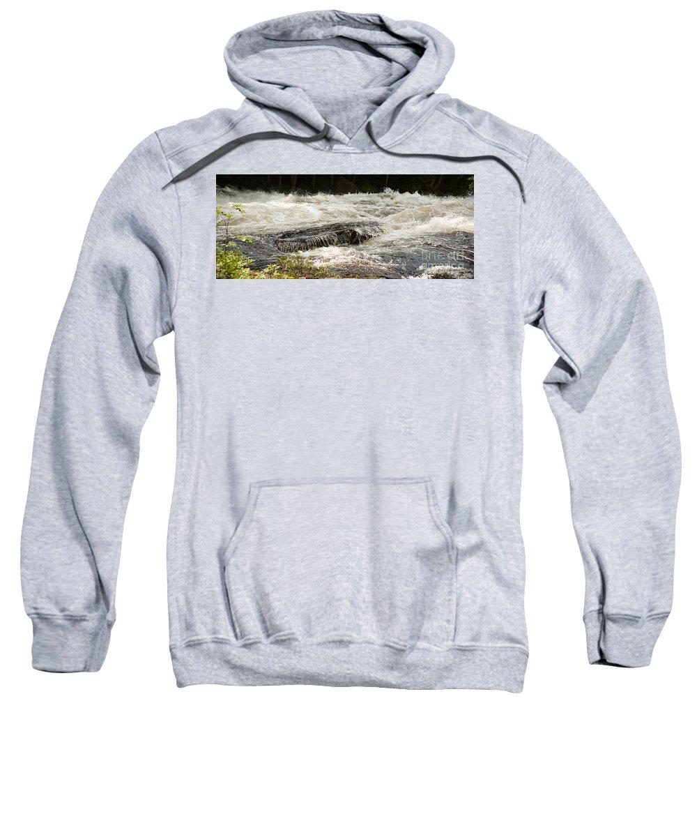 As You Like It Productions Sweatshirt featuring the photograph Buttermilk Falls Bubbles by Carol Lynn Coronios