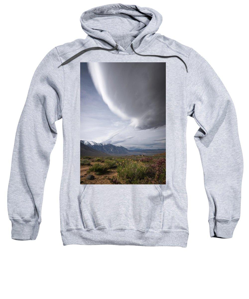 Blm Sweatshirt featuring the photograph Buttermilks Sky by Travis Elder