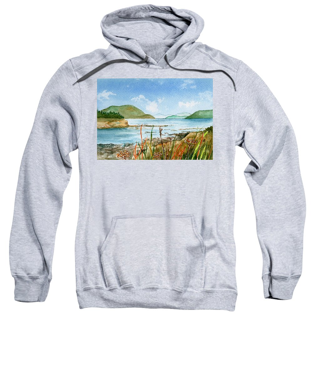 Landscape Sweatshirt featuring the painting By The Bay by Brenda Owen
