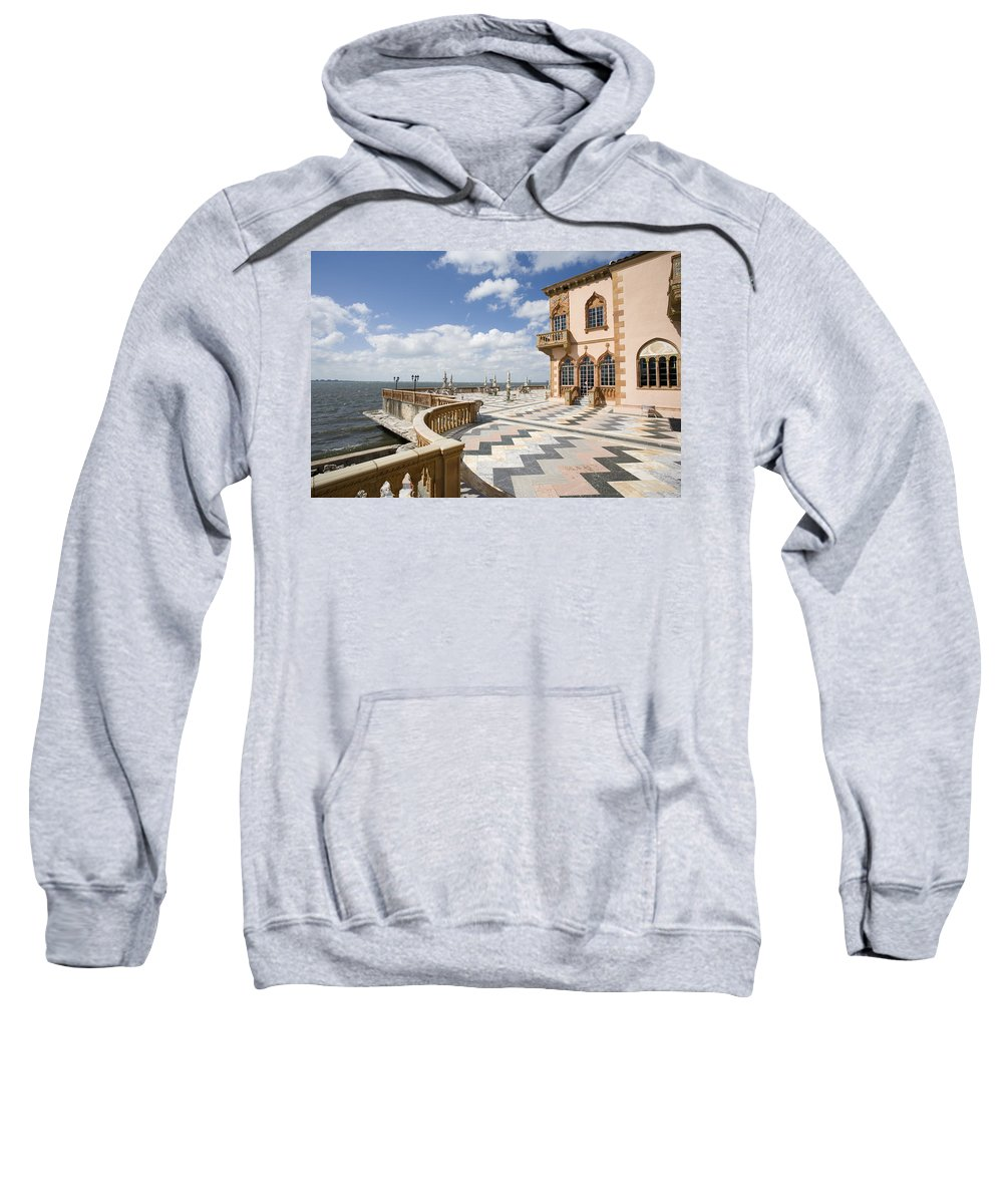 Ringling Sweatshirt featuring the photograph Ca D'zan Mansion Sarasota by Mal Bray