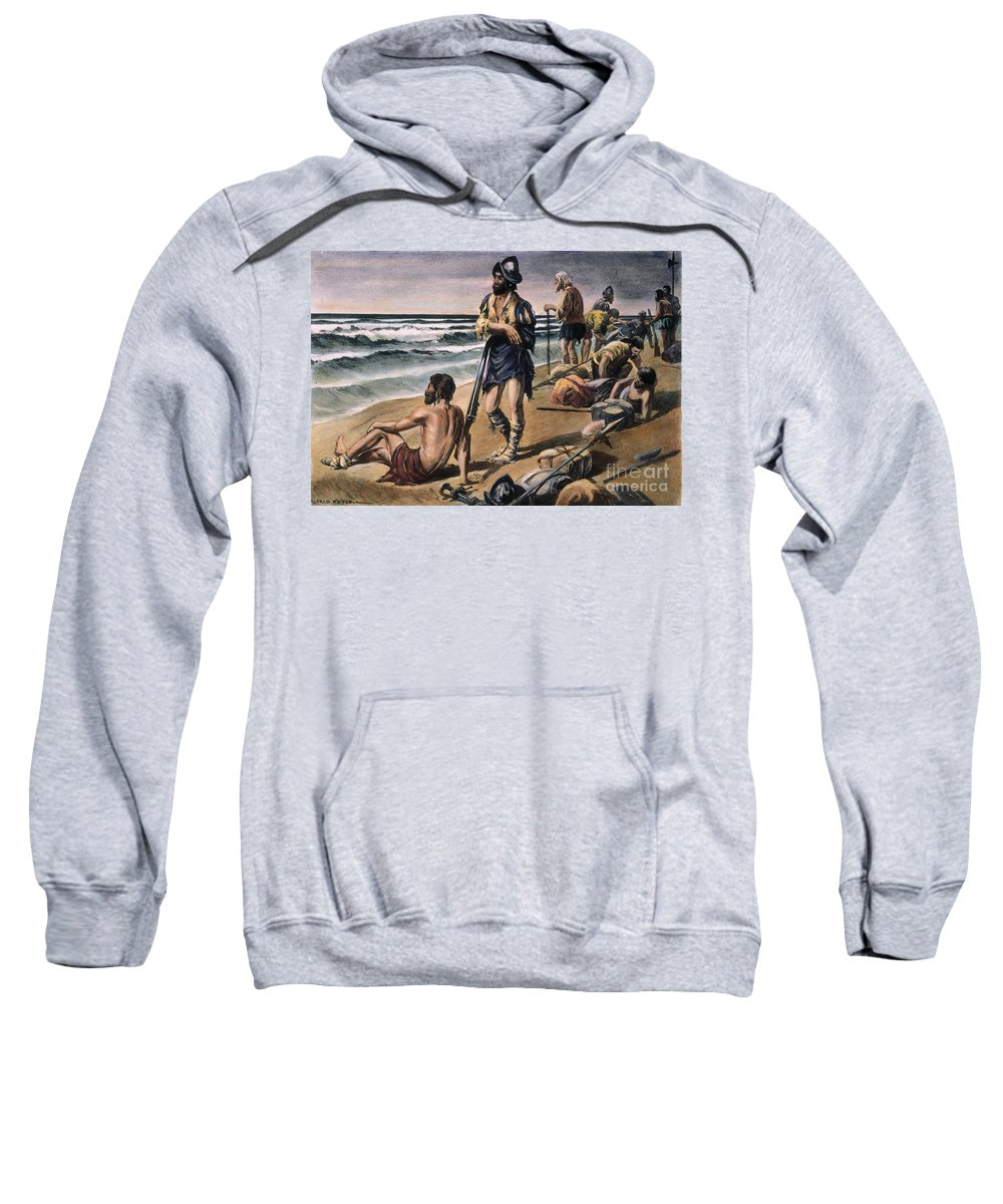 16th Century Sweatshirt featuring the photograph Cabeza De Vaca Expedition by Granger