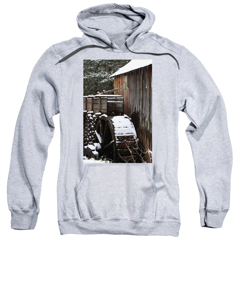 Great Smoky Mountains Sweatshirt featuring the photograph Cades Cove Mill I by Margie Wildblood