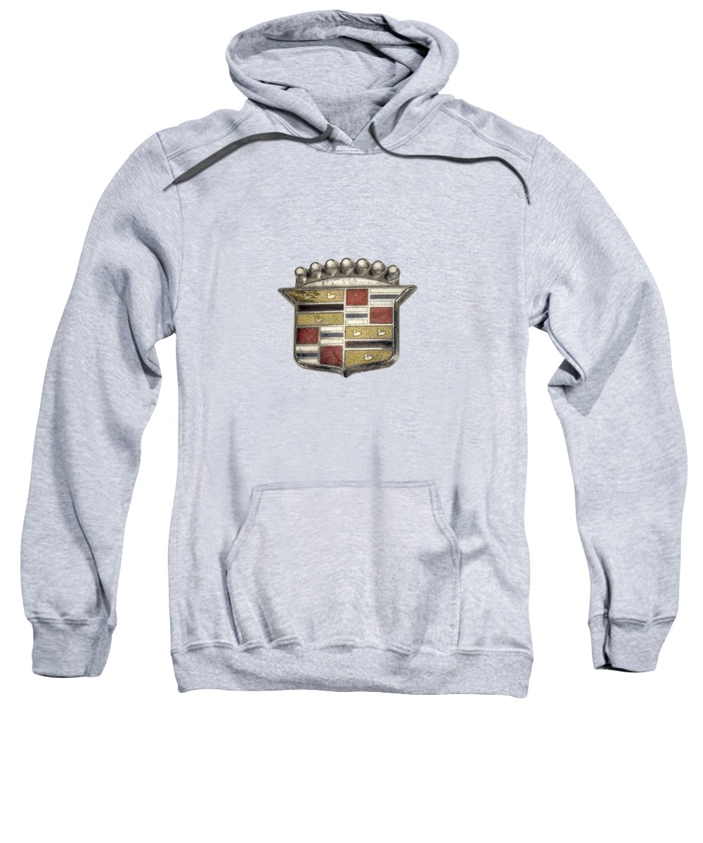 Antique Toy Sweatshirt featuring the photograph Cadillac Badge by YoPedro