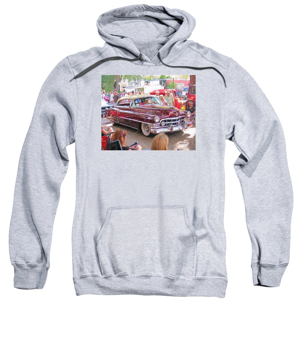 Cadillac Coupe Deville Sweatshirt featuring the photograph Cadillac Coupe Deville by Rebecca Korpita