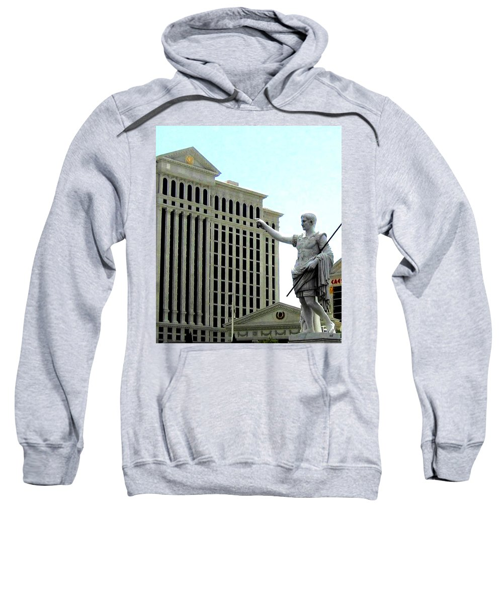 Caesars Palace Sweatshirt featuring the photograph Caesars Palace by Will Borden