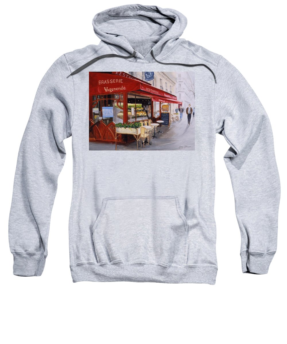 Cafe Sweatshirt featuring the painting Cafe 4 by Jay Johnson