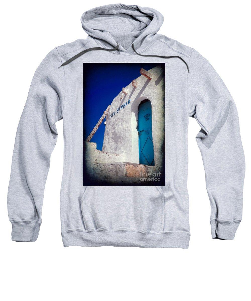 Tunisia Sweatshirt featuring the photograph Cafe Berber by Silvia Ganora