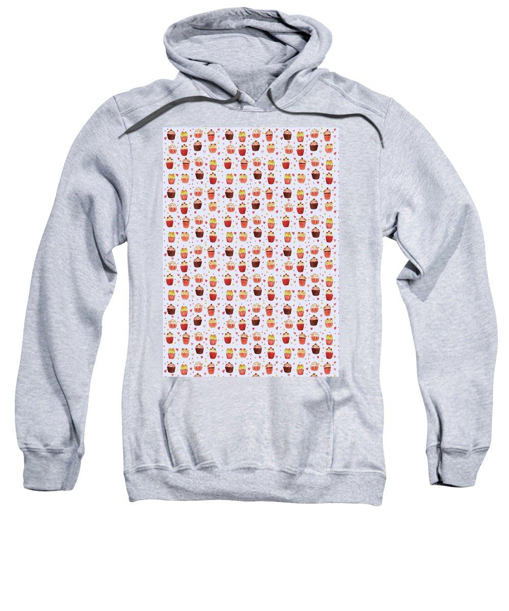 Cake Sweatshirt featuring the digital art Cakes Jp04 by Sandy Sheni