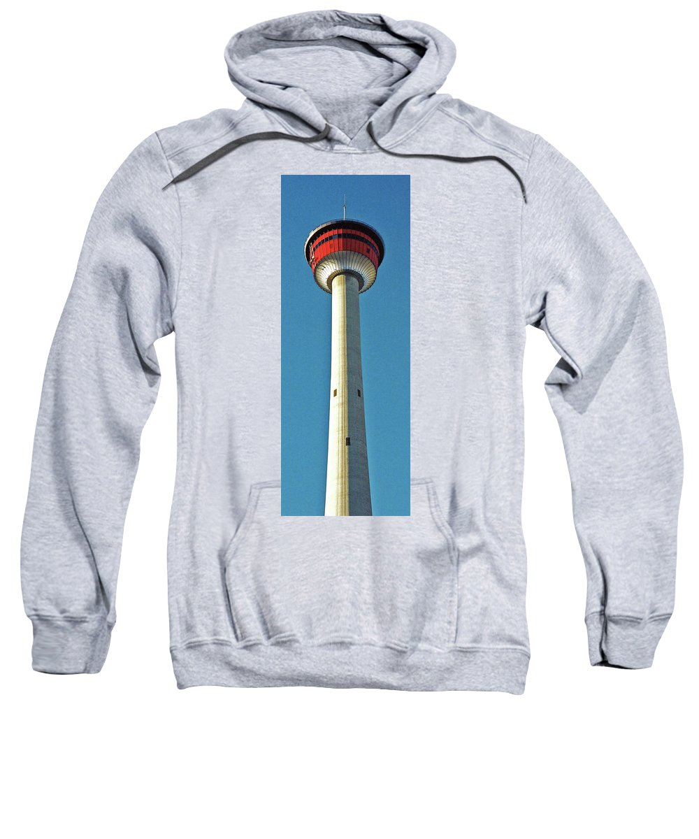 North America Sweatshirt featuring the photograph Calgary Tower by Juergen Weiss