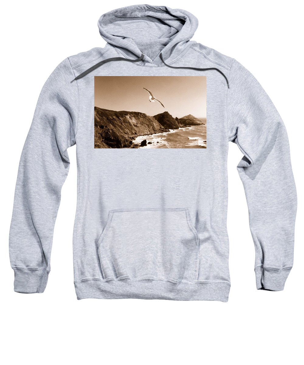 Seagull Sweatshirt featuring the photograph Cali Seagull by Trish Hale