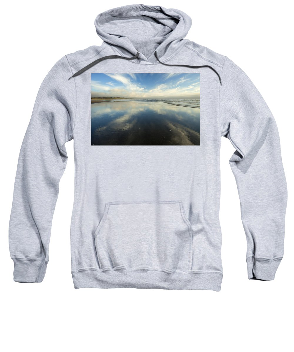 Cirrus Sweatshirt featuring the photograph California Cirrus Explosion by Mike Dawson