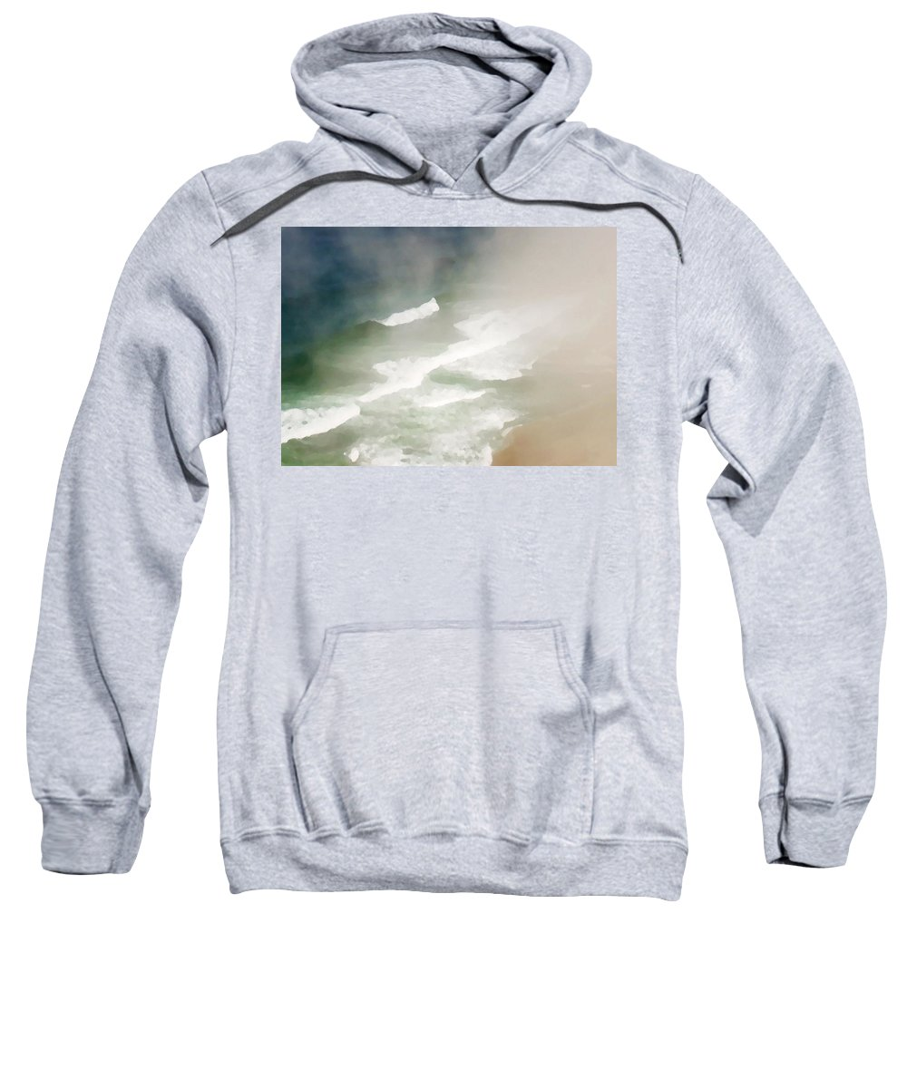Seascape Sweatshirt featuring the photograph California Coast by Sharon Foster
