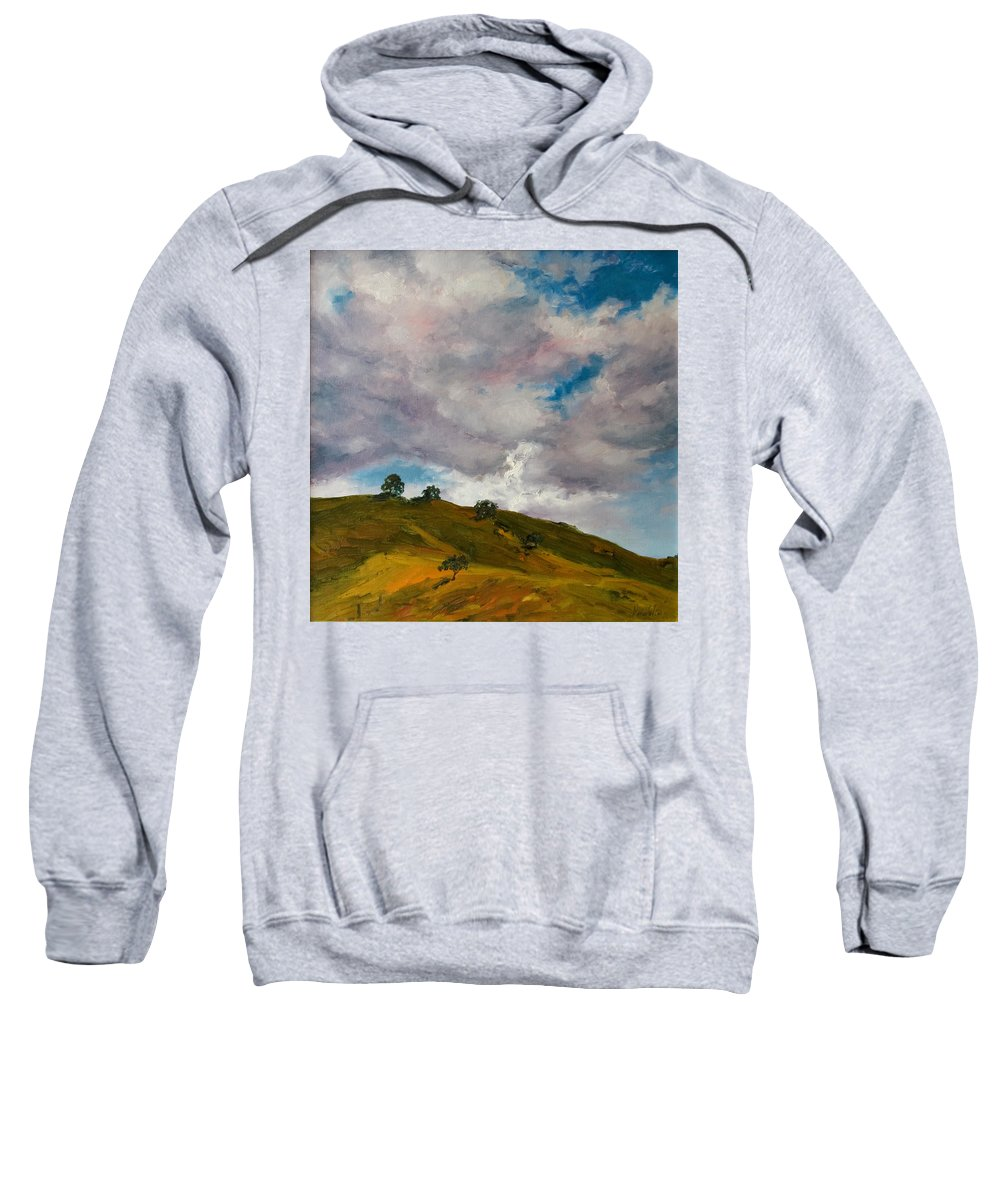 Sky Sweatshirt featuring the painting California Hills by Rick Nederlof