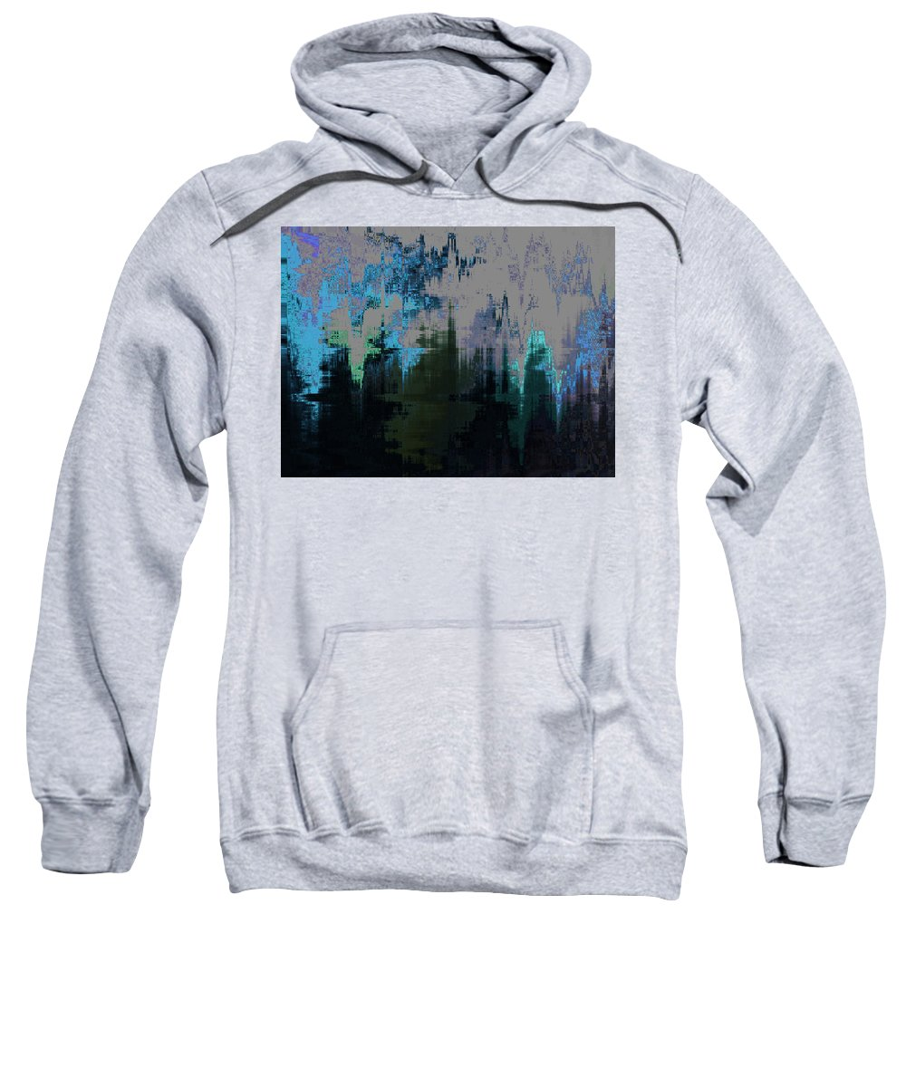 Abstract Sweatshirt featuring the digital art California Smoke Descends On Wyoming by Lenore Senior