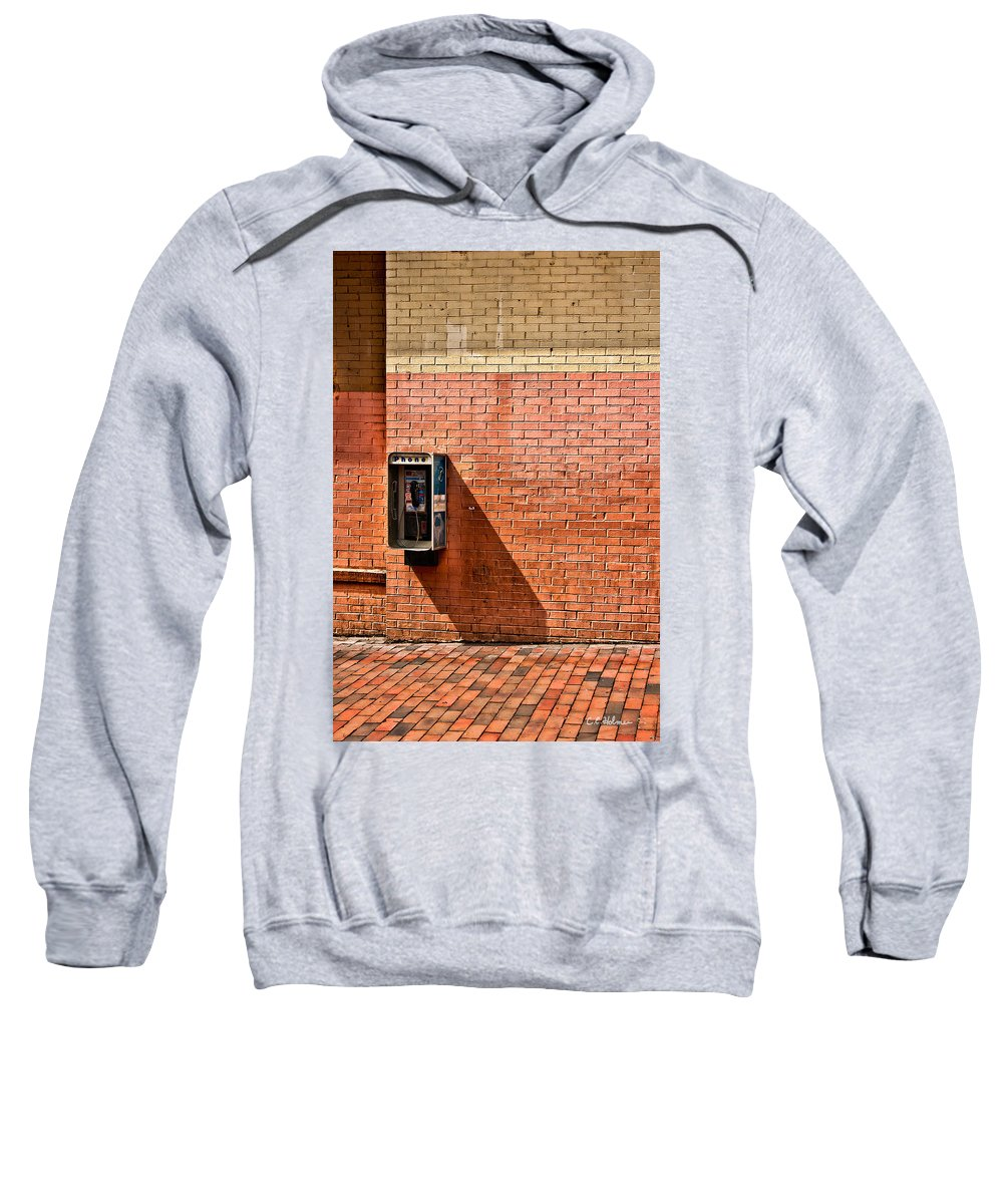 Phone Sweatshirt featuring the photograph Call Me by Christopher Holmes