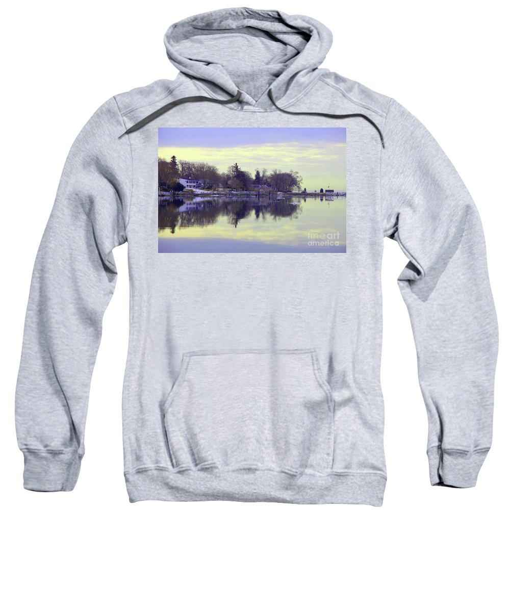 Coastal Sweatshirt featuring the photograph Calming Lavendar Scene by Karol Livote