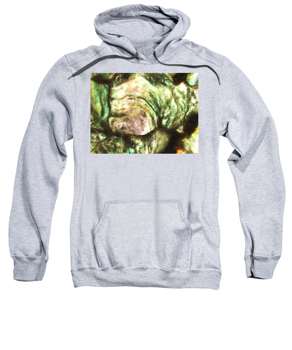 Abstract Sweatshirt featuring the photograph Calming Shell by Michael Hackney