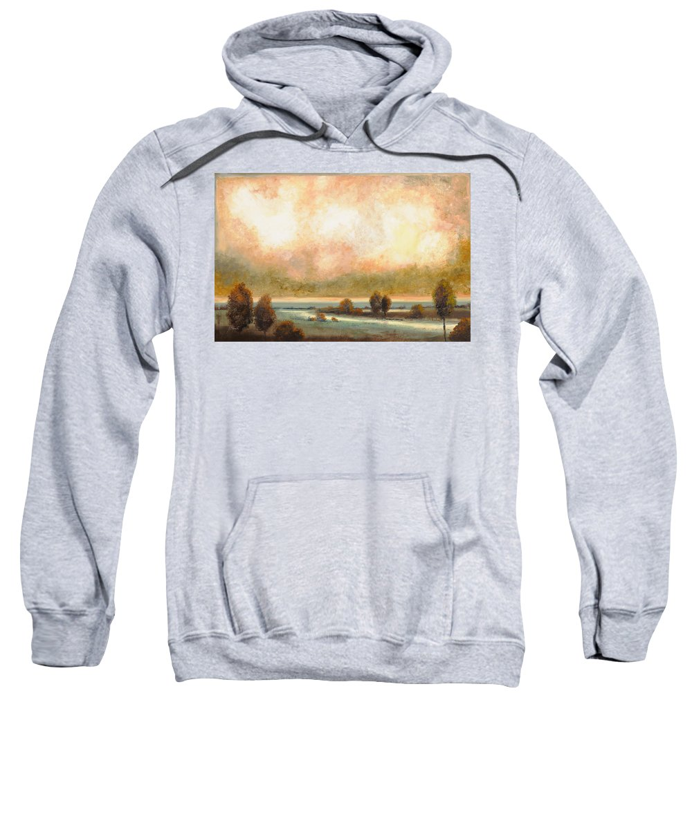 Pond Sweatshirt featuring the painting Calor Bianco by Guido Borelli