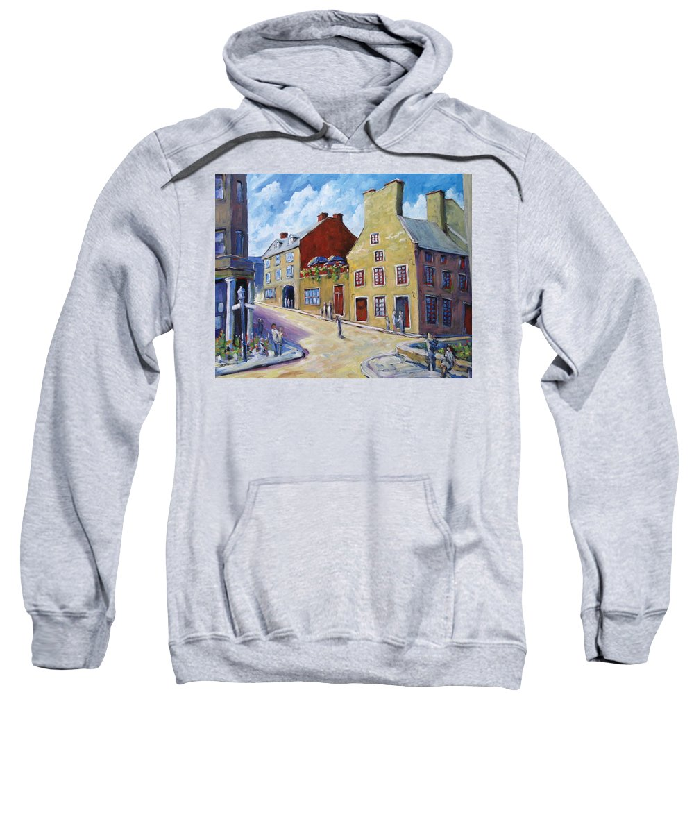 Rural Sweatshirt featuring the painting Calvet House Old Montreal by Richard T Pranke