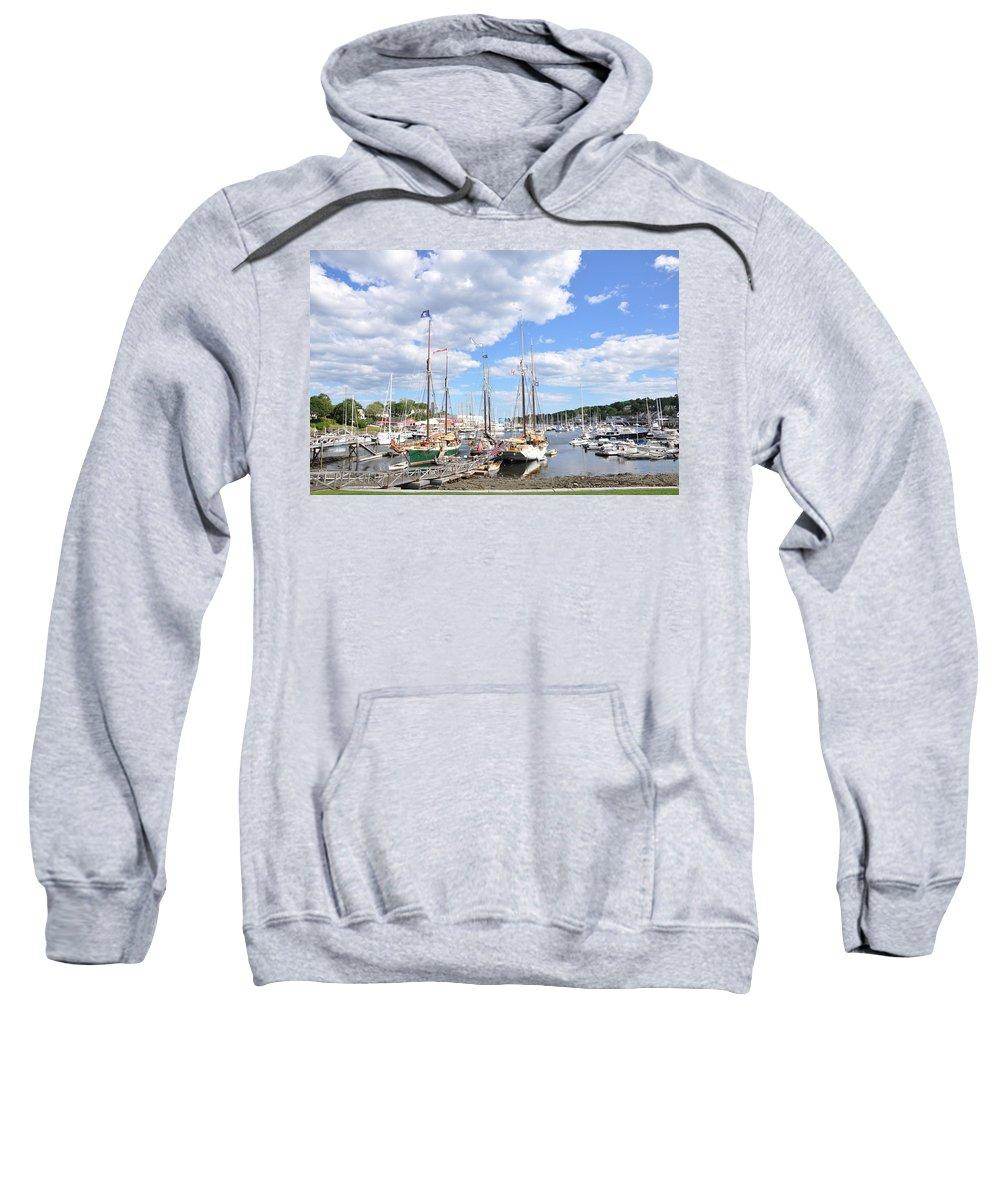 Boats Sweatshirt featuring the photograph Camden Maine Harbor by Glenn Gordon