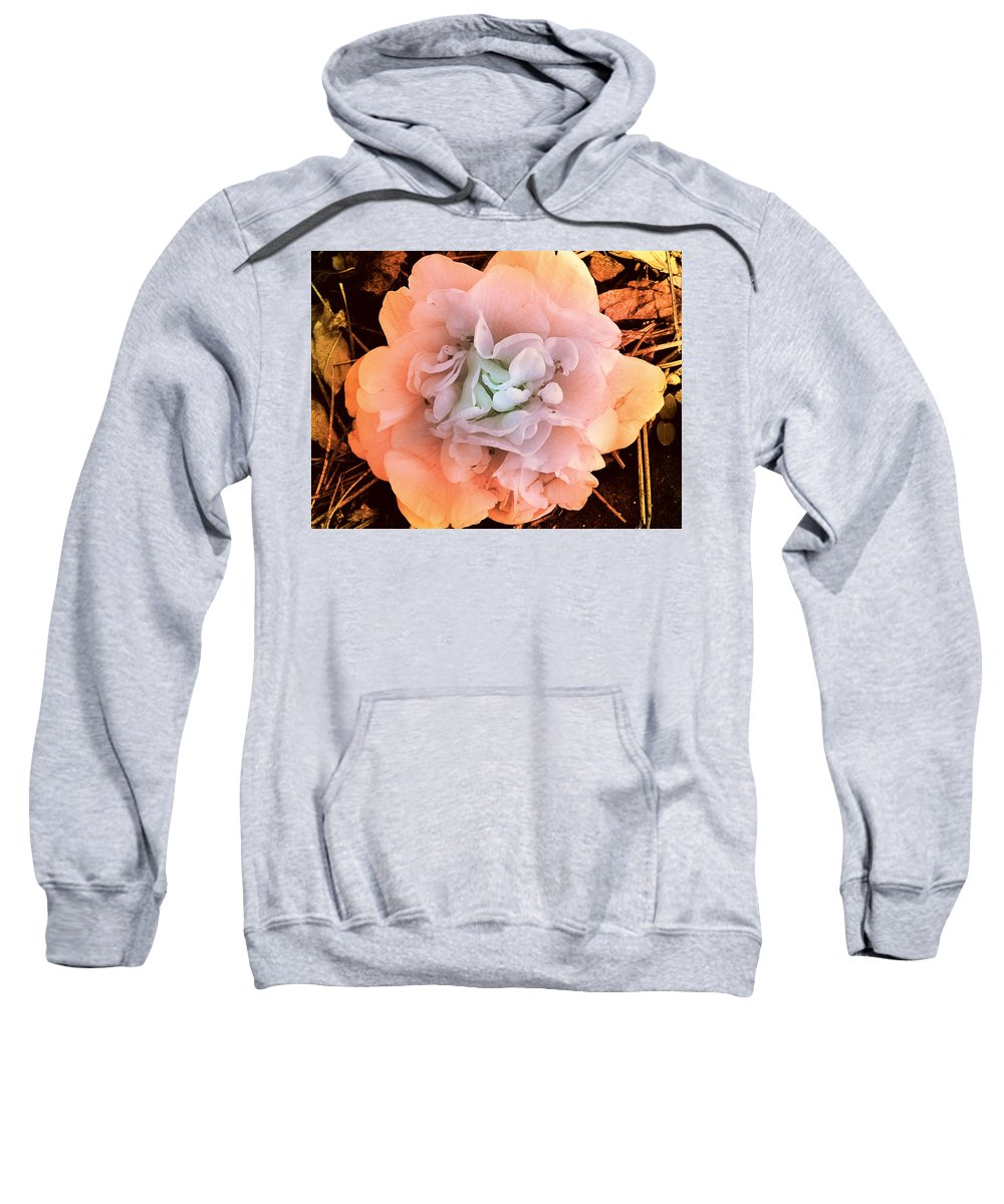 Photography Sweatshirt featuring the photograph Camellia Bloom by Susanne Van Hulst