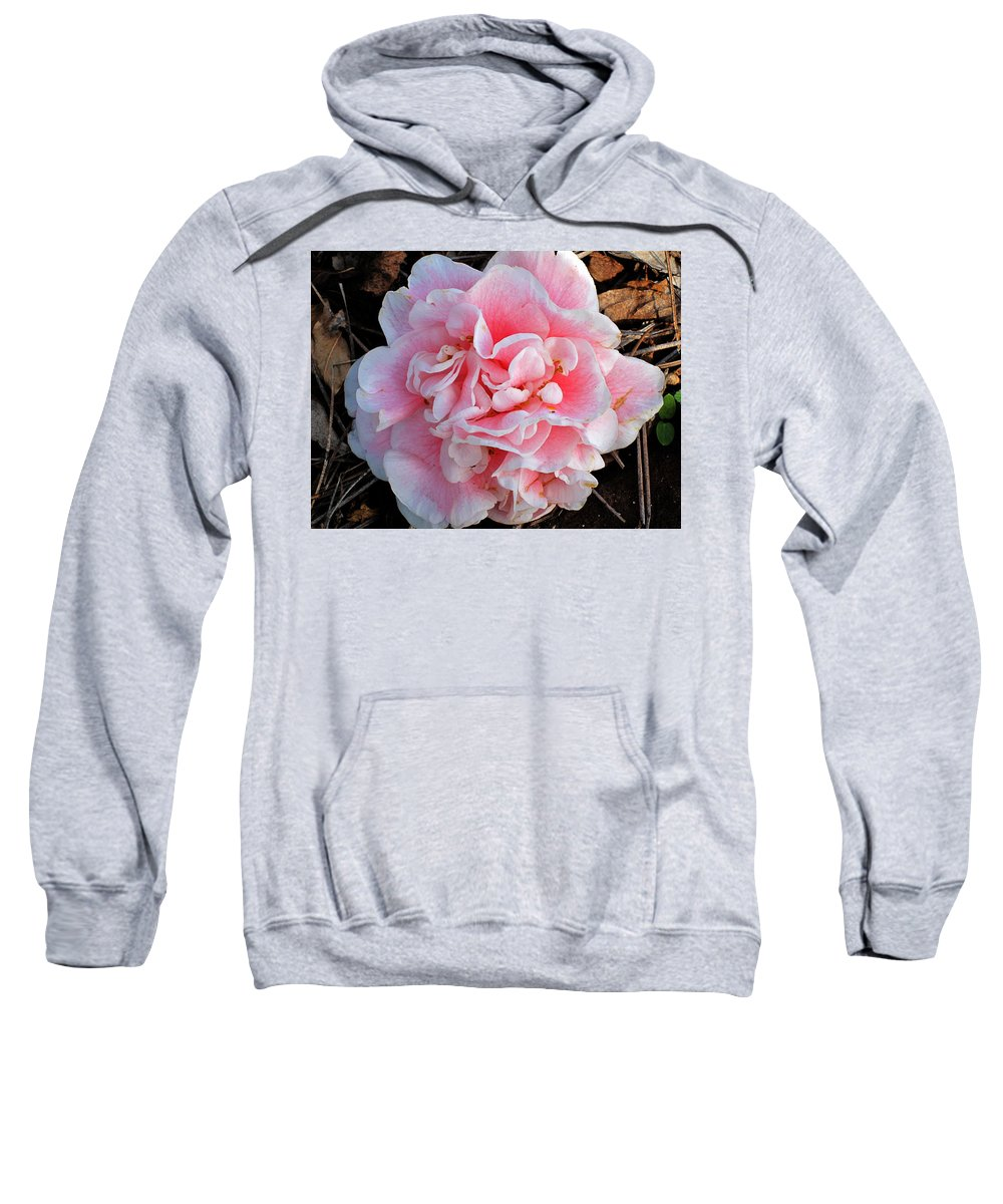 Photography Sweatshirt featuring the photograph Camellia Flower by Susanne Van Hulst