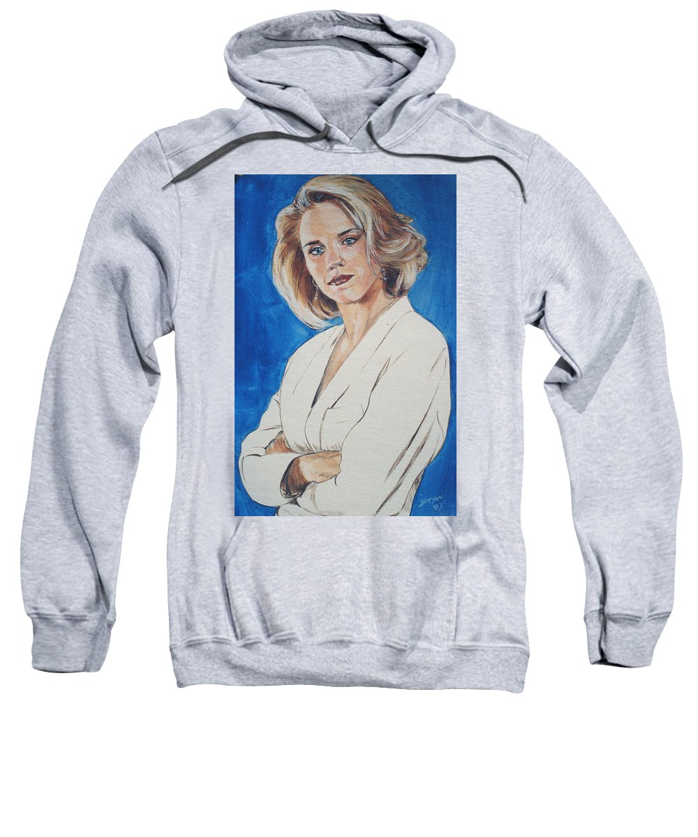 Cami Cooper Sweatshirt featuring the painting Cami Cooper by Bryan Bustard