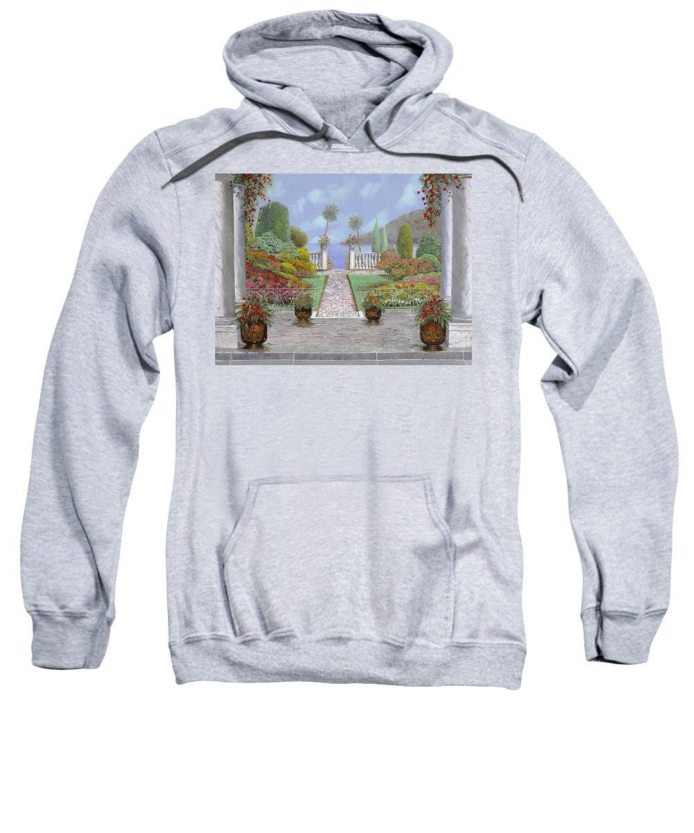 Lake Sweatshirt featuring the painting Camminando Verso Il Lago by Guido Borelli