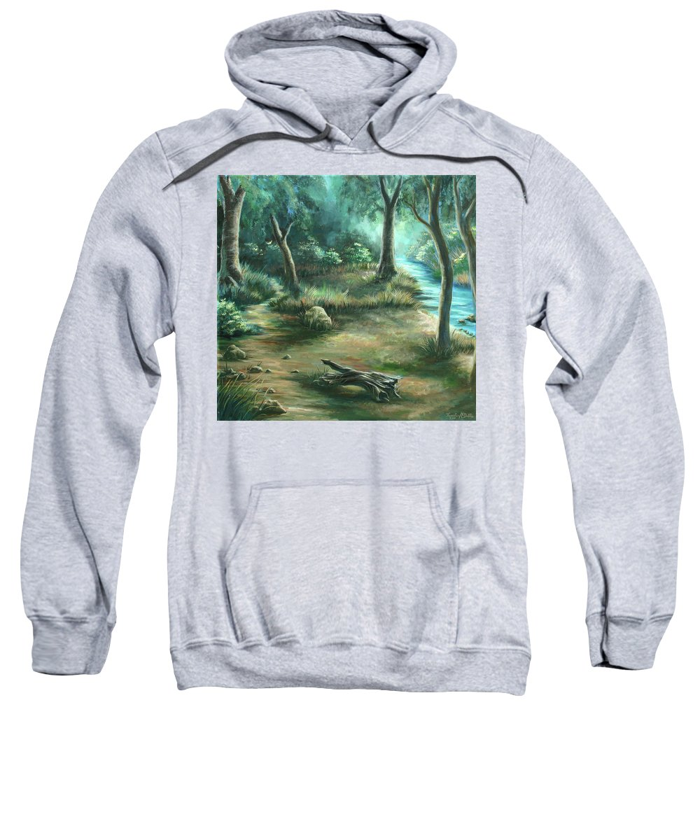 Landscape Sweatshirt featuring the painting Camping at Figueroa Mountains by Jennifer McDuffie