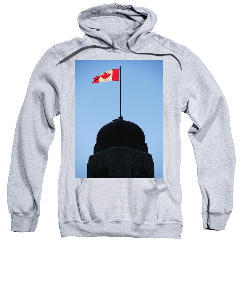 Canadian Flag Sweatshirt featuring the photograph Canadian Flag 1 by Mark Sellers