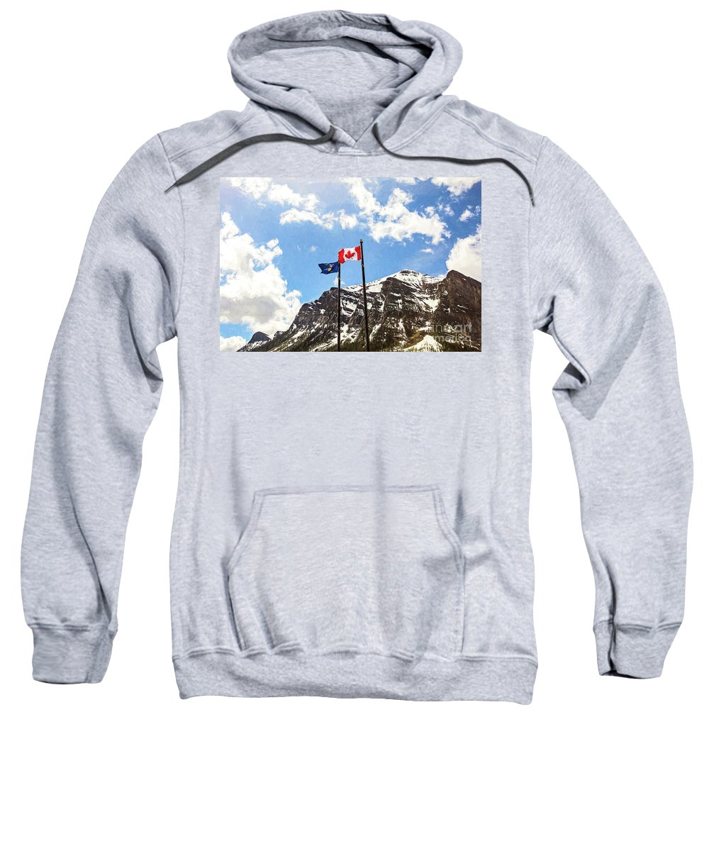 Canada Sweatshirt featuring the photograph Canadian Rockies - Digital Painting by Scott Pellegrin