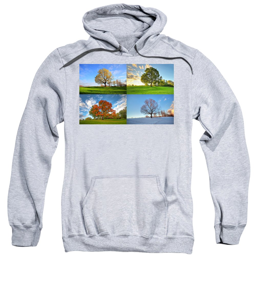 Canada Sweatshirt featuring the photograph Canadian Seasons by Mircea Costina Photography