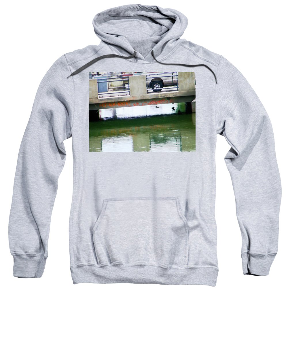 Abstract Sweatshirt featuring the photograph Canal 4-3 by Lenore Senior