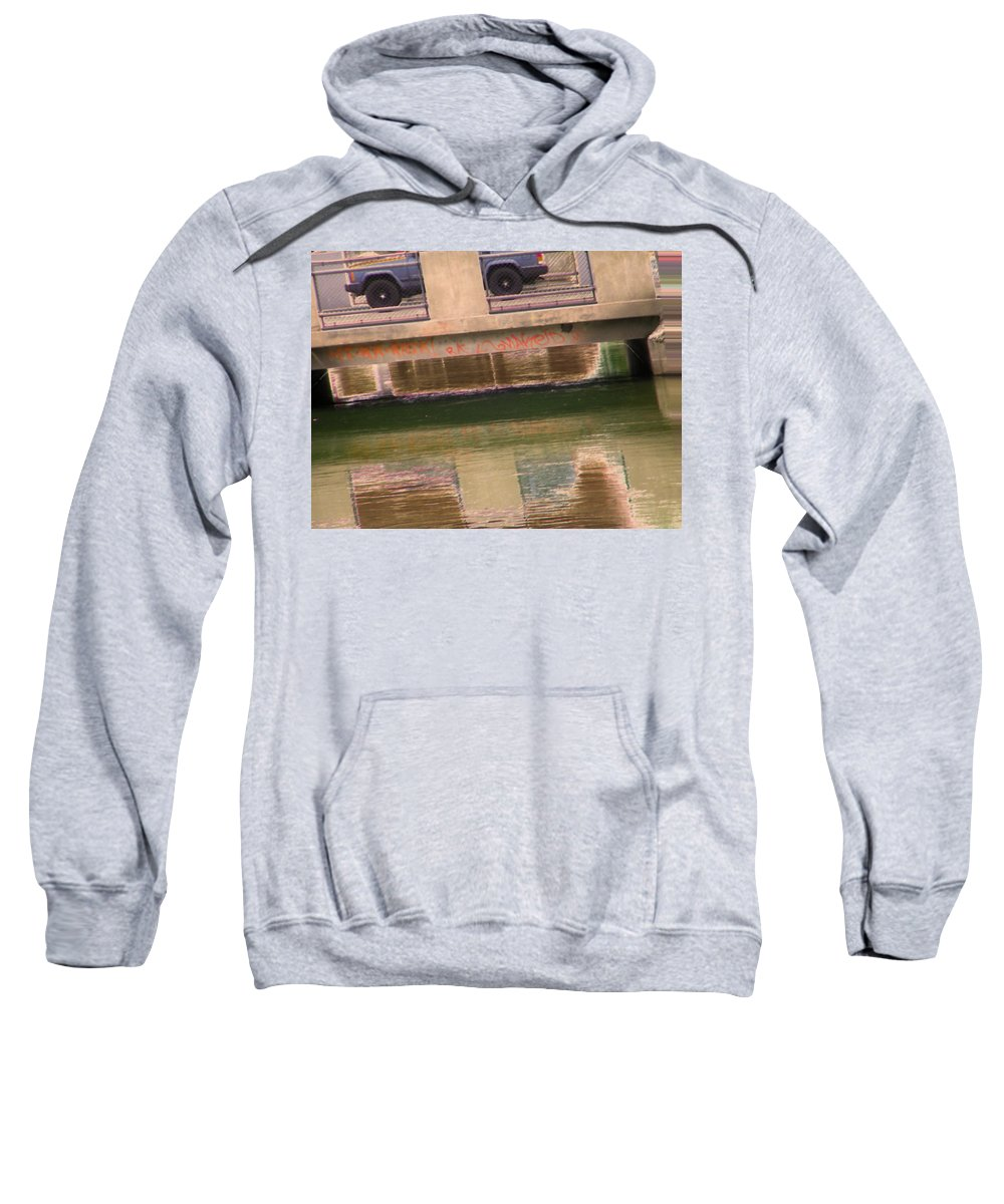 Abstract Sweatshirt featuring the photograph Canal 5-3 by Lenore Senior