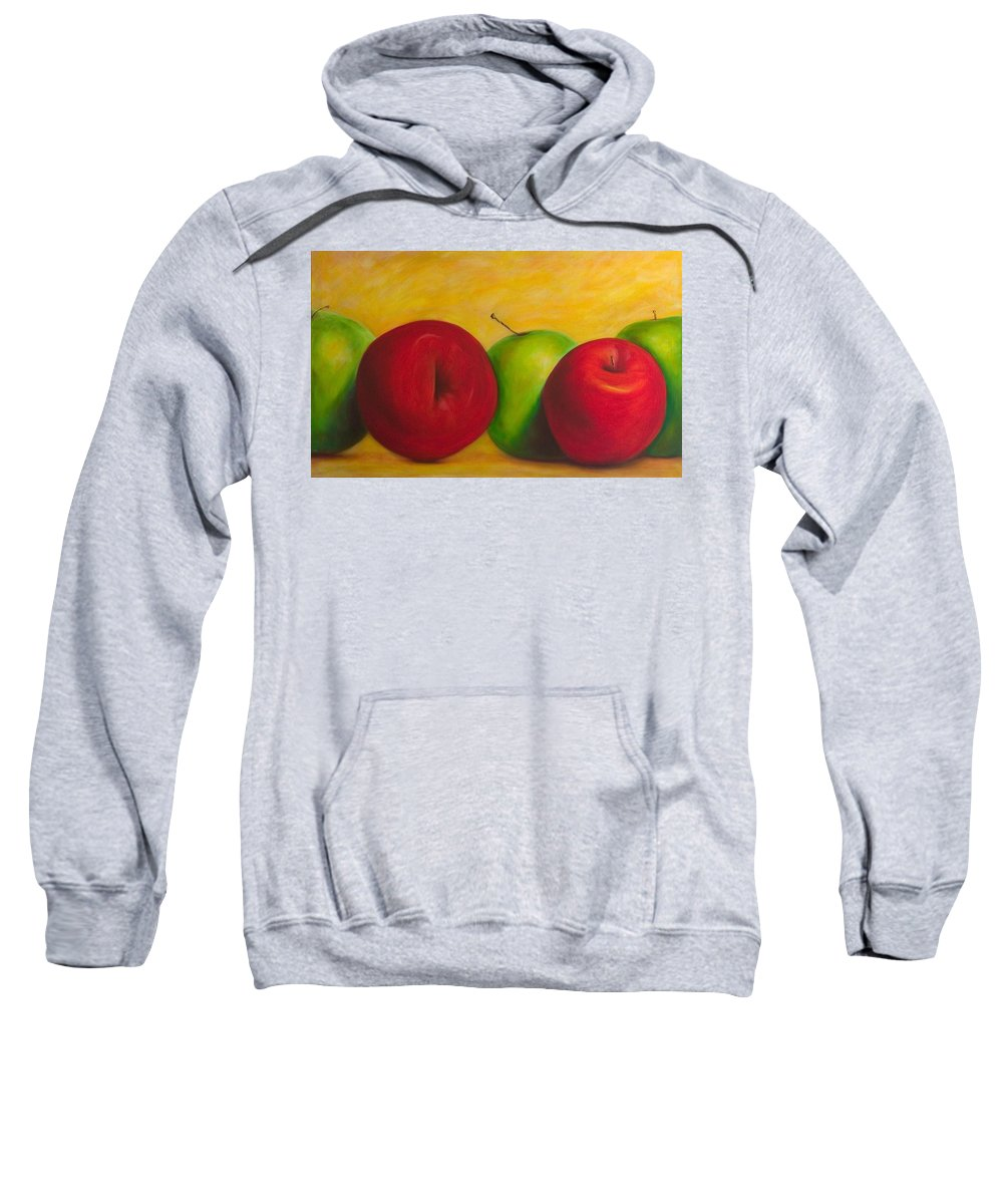 Still Life Sweatshirt featuring the painting Cancan by Shannon Grissom