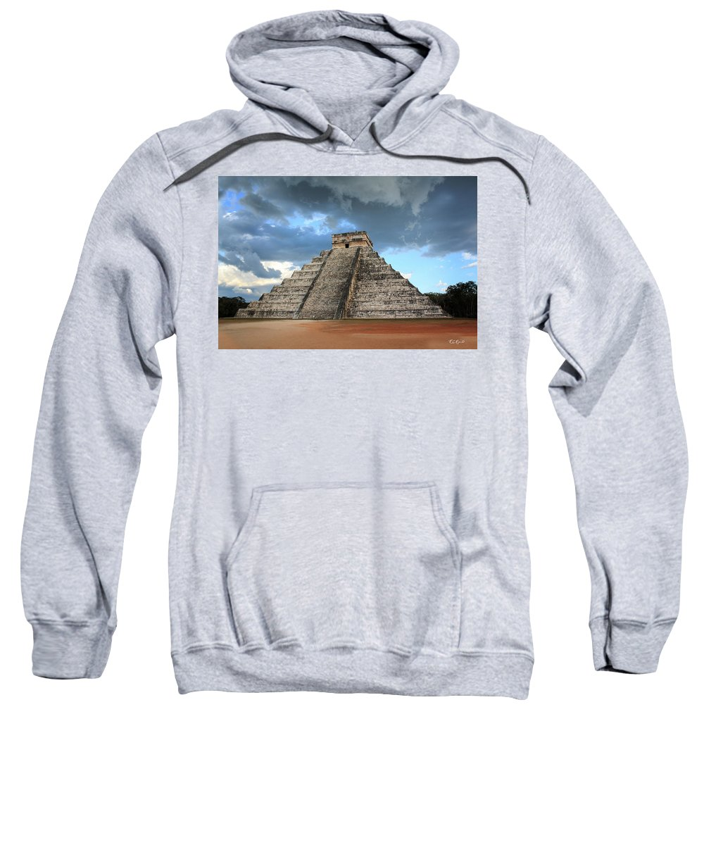 Cancun Sweatshirt featuring the photograph Cancun Mexico - Chichen Itza - Temple Of Kukulcan-el Castillo Pyramid 3 by Ronald Reid