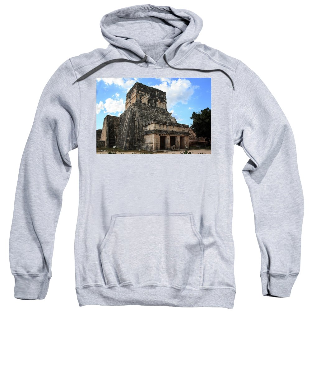 Cancun Sweatshirt featuring the photograph Cancun Mexico - Chichen Itza - Temples Of The Jaguar On The Great Ball Court by Ronald Reid